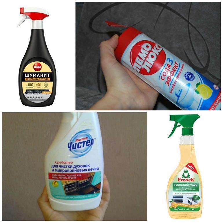 очистить чковороду от нагара можно с помощью бытовой химии