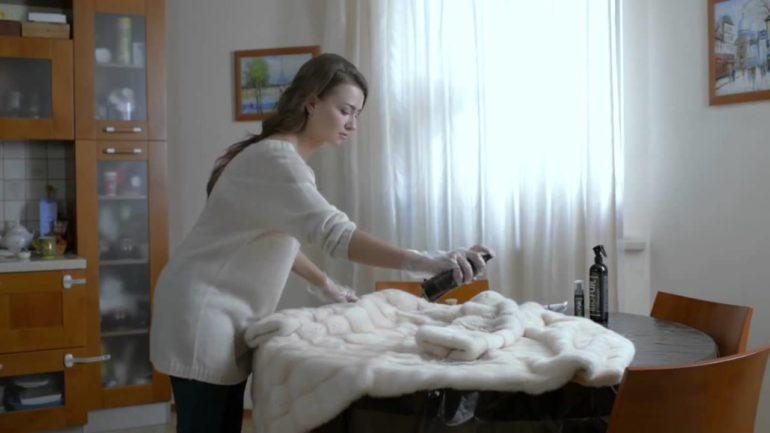 Чистка светлой шубы в домашних условиях