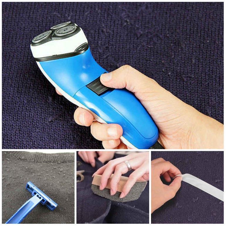 вот как убрать катышки с помощью бритвы