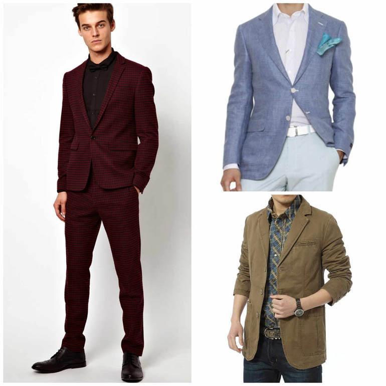 Разновидности мужских пиджаков по материалу изготовления