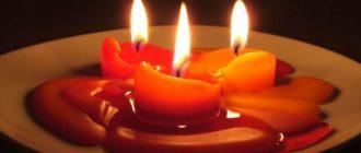 воск от свечи