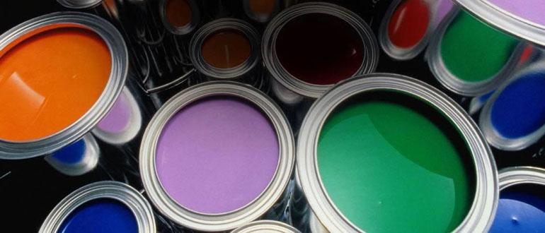 Краска разных цветов