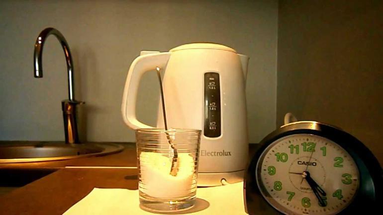 Чистка электрического чайника от накипи